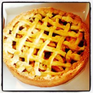 ambachtelijke biologische appeltaart